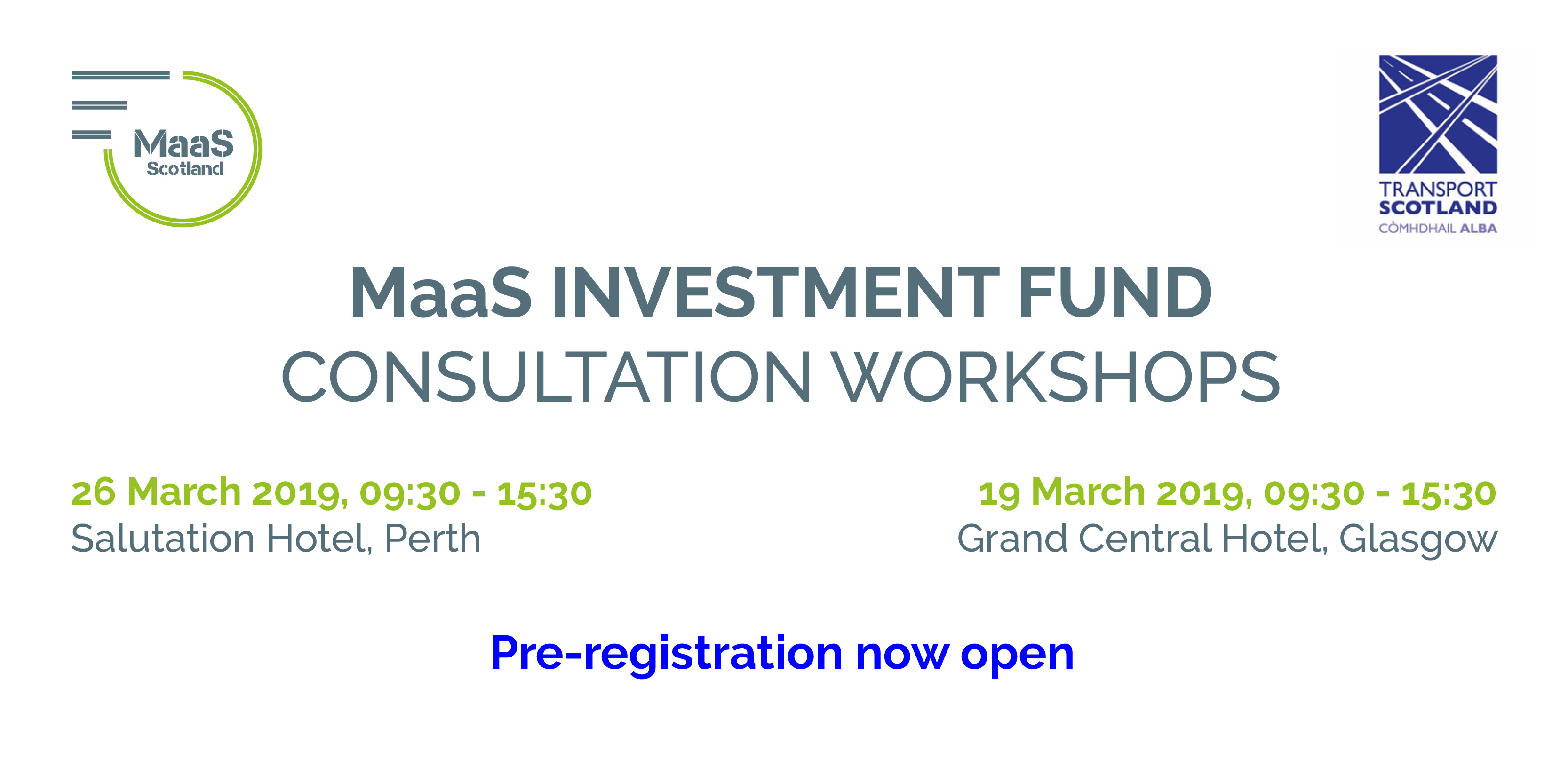 MaaS Investment Fund Consultation Workshops: Glasgow and Perth